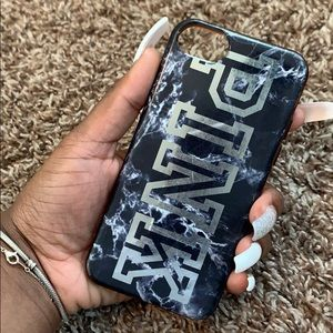 Grey and white marble PINK iPhone case 6s/6/7s/8s